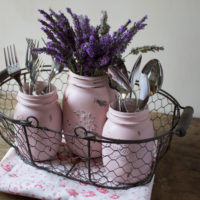 Tutorial barattoli decorati in stile Shabby Chic – Idee per la tavola del party