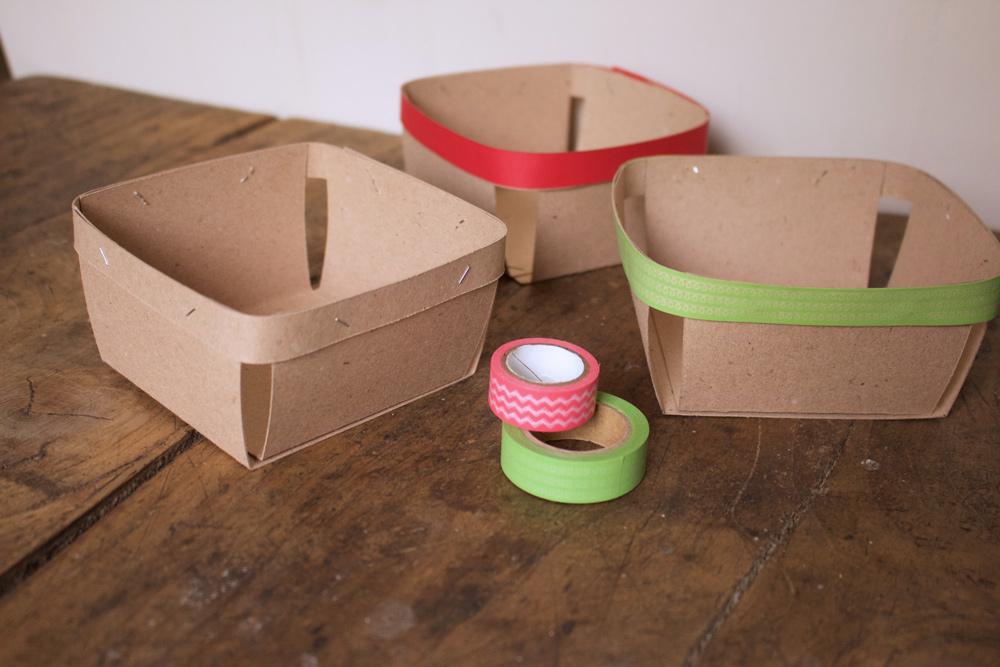 Cestino di carta per la frutta - cestini decorati con washi tape- Tutorial Lily&Sage Design