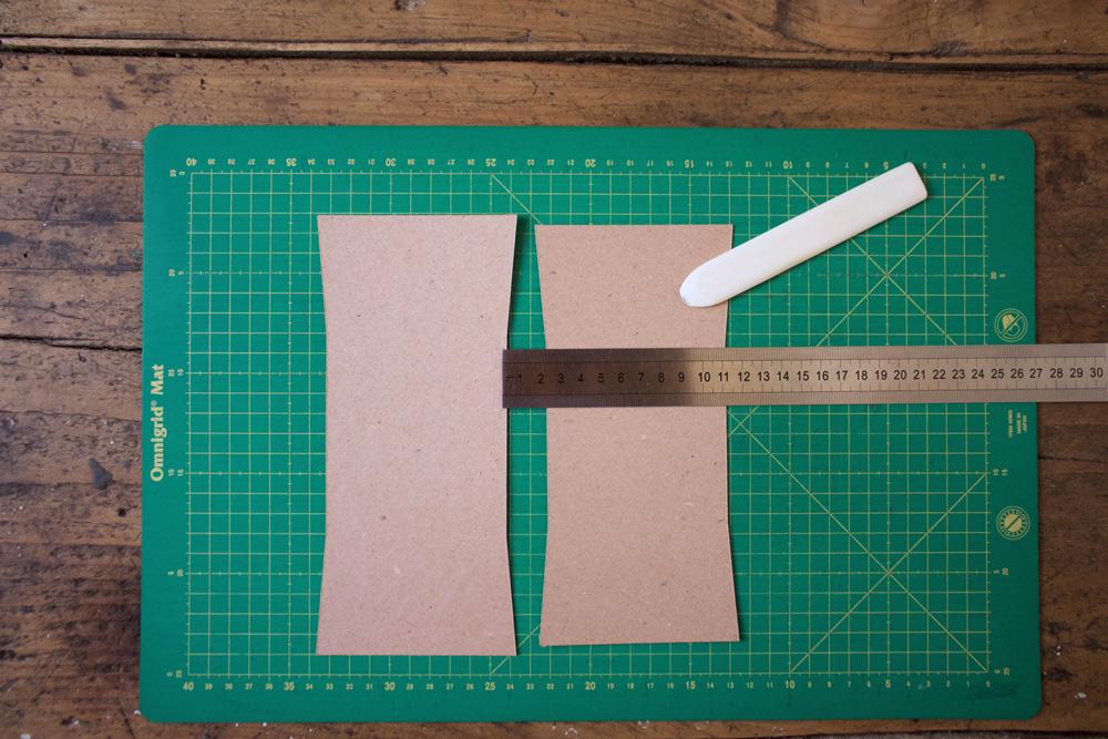 Cestino di carta per la frutta - marcare le linee di piega - Tutorial Lily&Sage Design