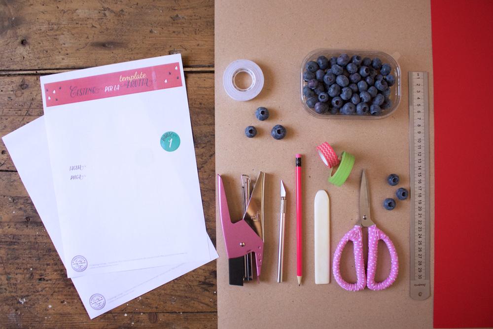 Cestino di carta per la frutta - l'occorrente - Tutorial Lily&Sage Design