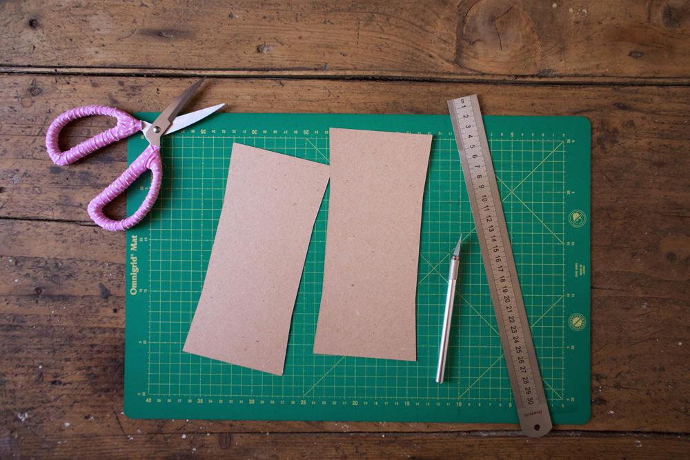 Cestino di carta per la frutta - tagliare il cartoncino - Tutorial Lily&Sage Design