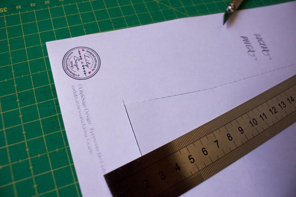 Cestino di carta per la frutta - ritagliare template - Tutorial Lily&Sage Design