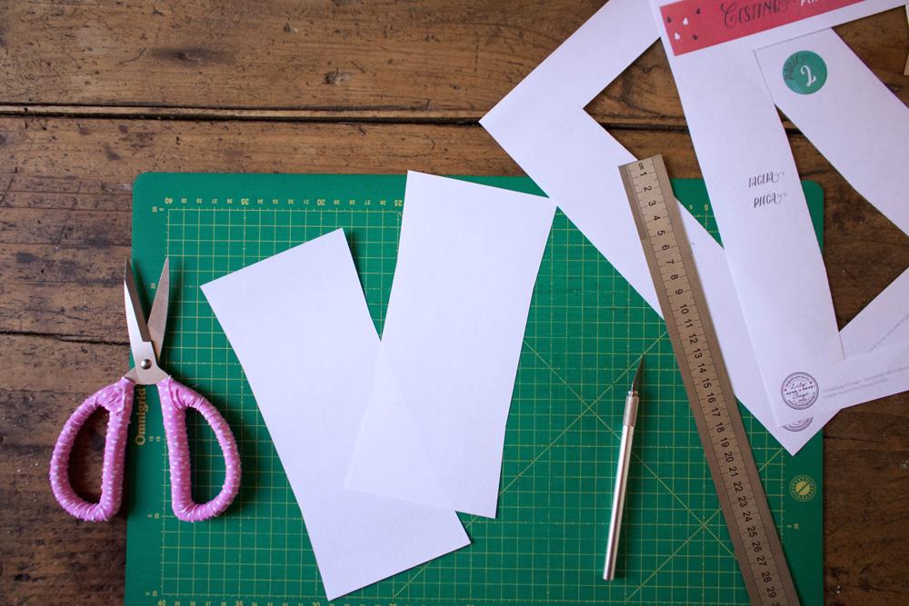 Cestino di carta per la frutta - template tagliati - Tutorial Lily&Sage Design