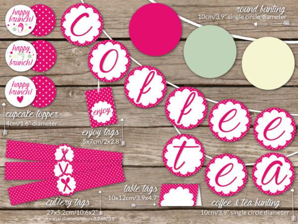 Decorazioni per il tuo party - La mia idea di Brunch - Lily&Sage Design