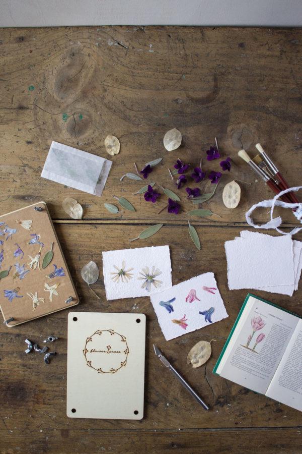 Essiccare i fiori con la pressa per fiori - Lily&Sage Design
