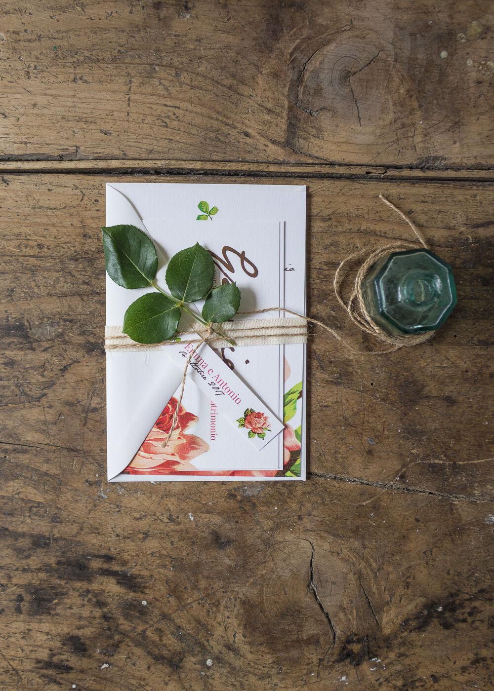 Wedding suite botanica Mary Rose - Atmosfere d'altri tempi - Stampe botaniche - Lily&Sage Design