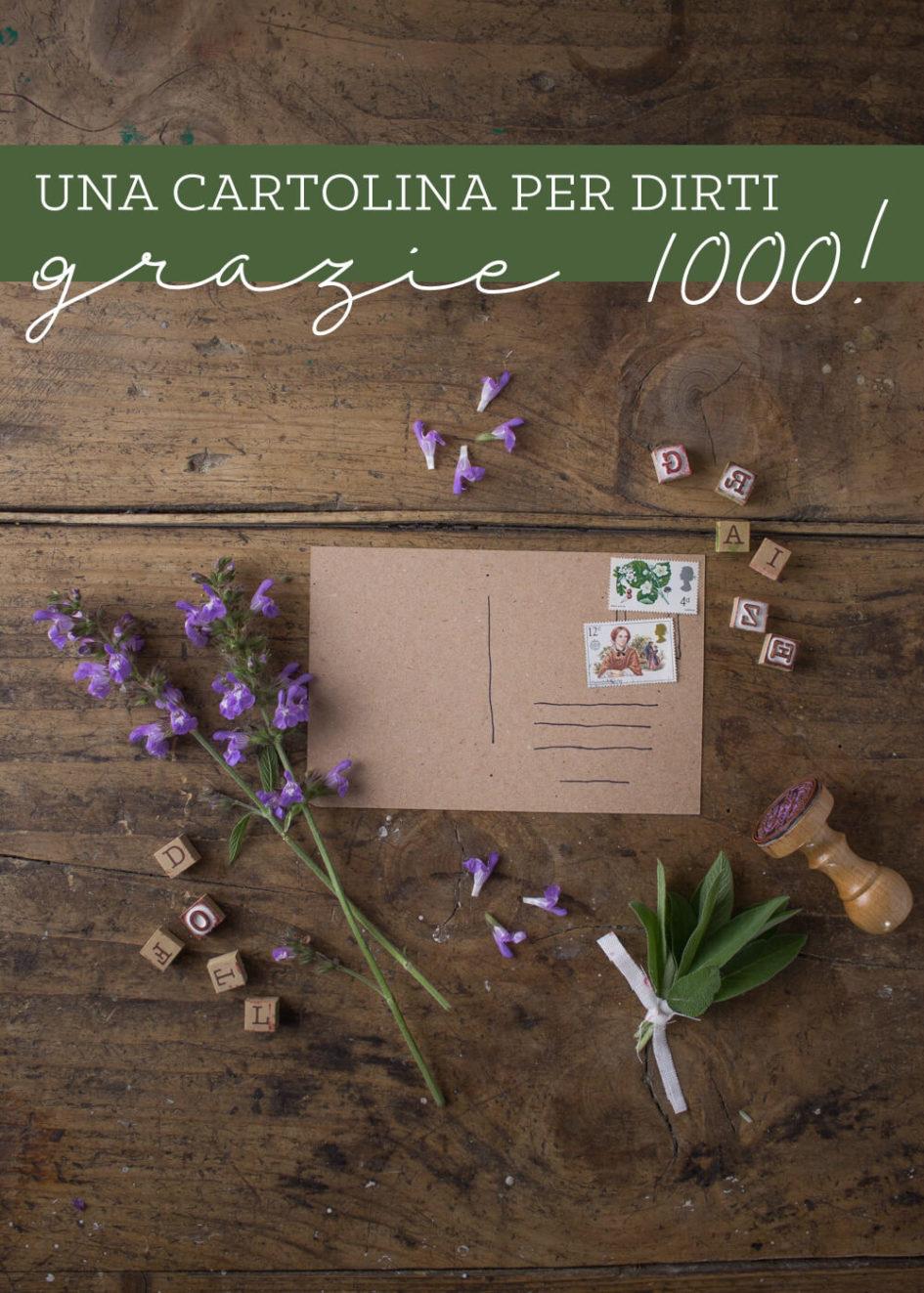 Una cartolina per dirti grazie 1000 - Lily&Sage Design