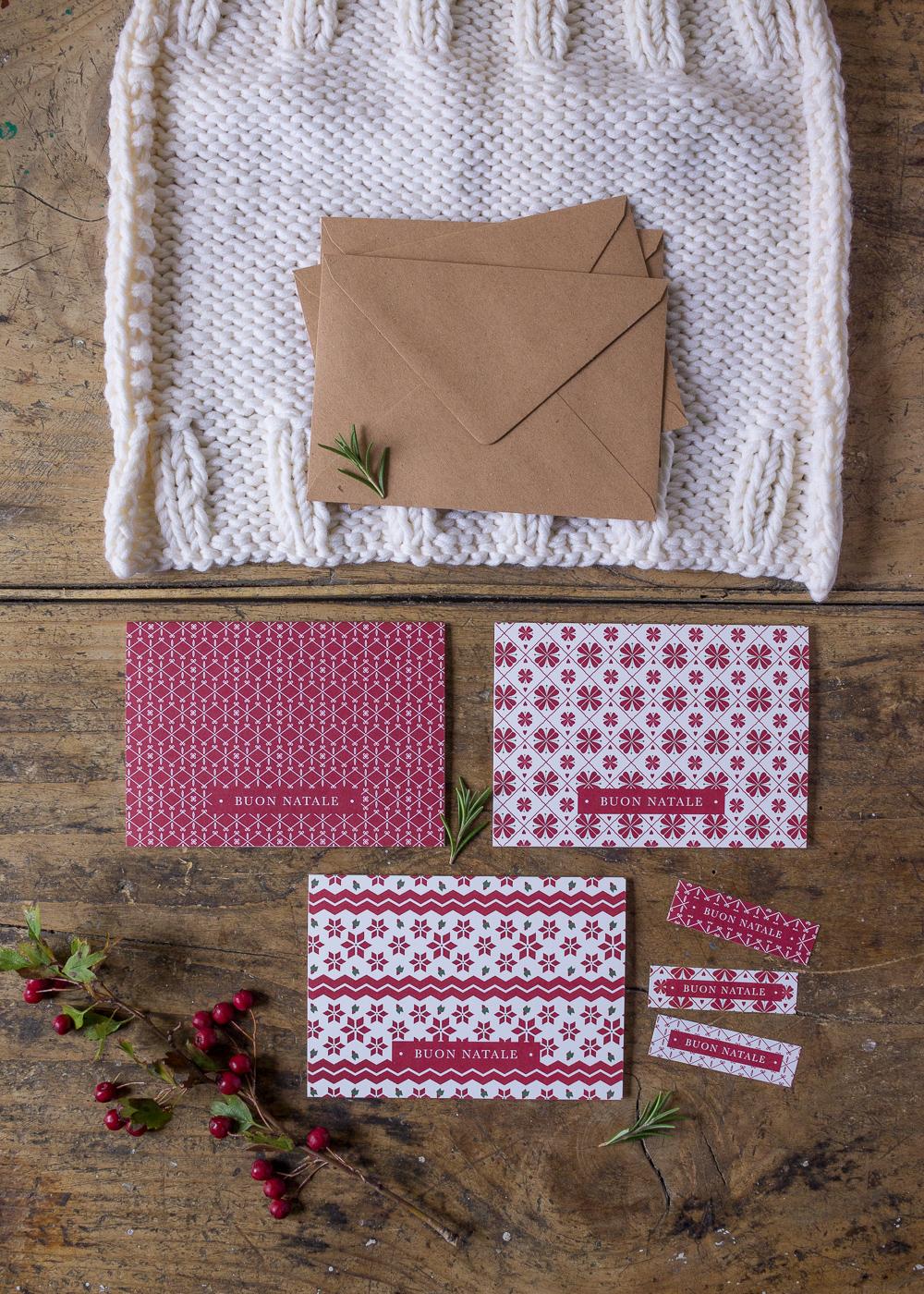 Il mio negozio di Natale - Biglietti d'auguri di Natale - Pattern natalizi - Lily&Sage Design