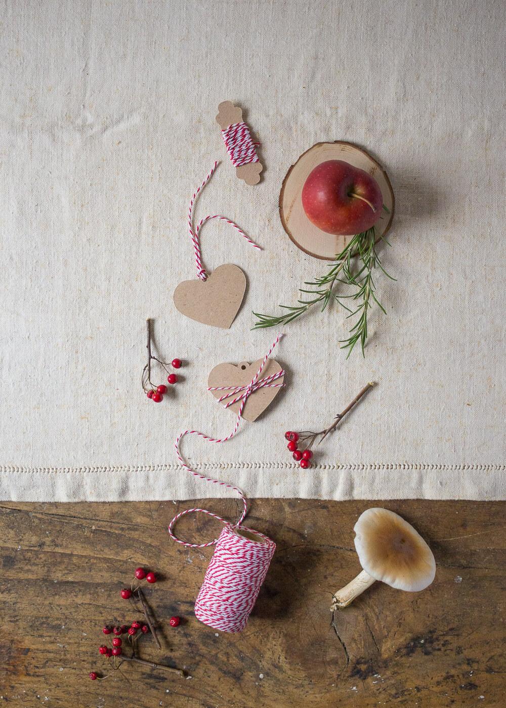 Il mio negozio di Natale - Tag chiudipacco Cuore carta Kraft - Lily&Sage Design