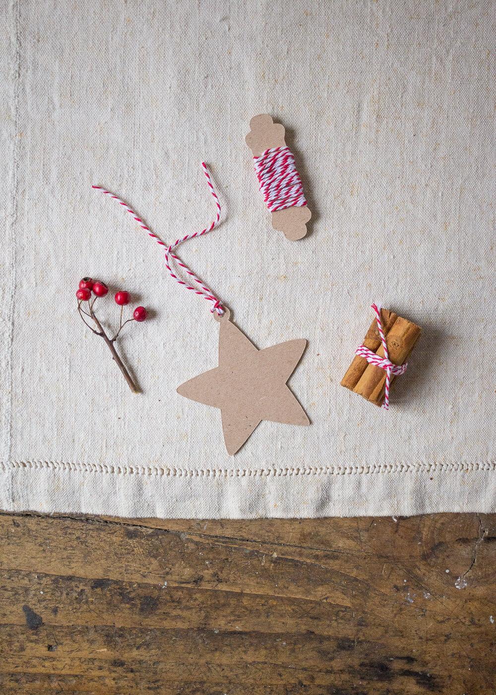 Il mio negozio di Natale - Tag chiudipacco Stella carta Kraft - Lily&Sage Design